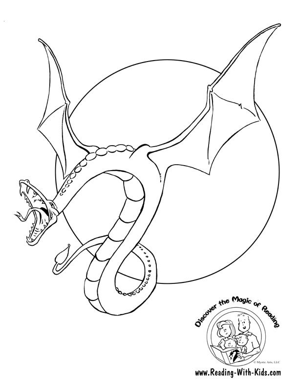 flying-dragon-coloring-page.jpg (612×792) | A - DOODLES | Pinterest ...