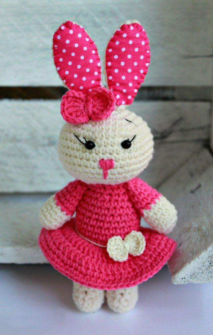 Cute bunny amigurumi pattern | Hase, Häckeln und Amigurumi ...