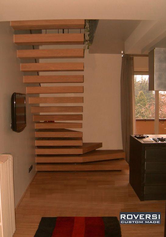 Scala a sbalzo sospesa in legno modello sound roversi scale idee per la casa pinterest - Scale a sbalzo in cemento ...