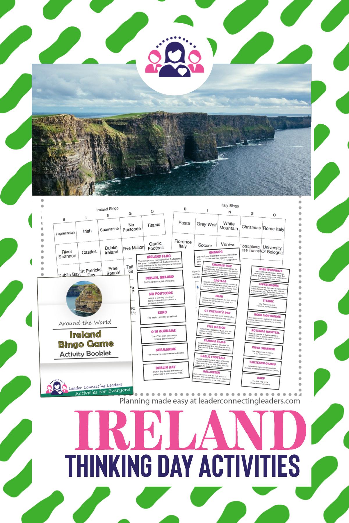 Ireland Fun Fact Bingo Game in 2020 Fun facts, Bingo
