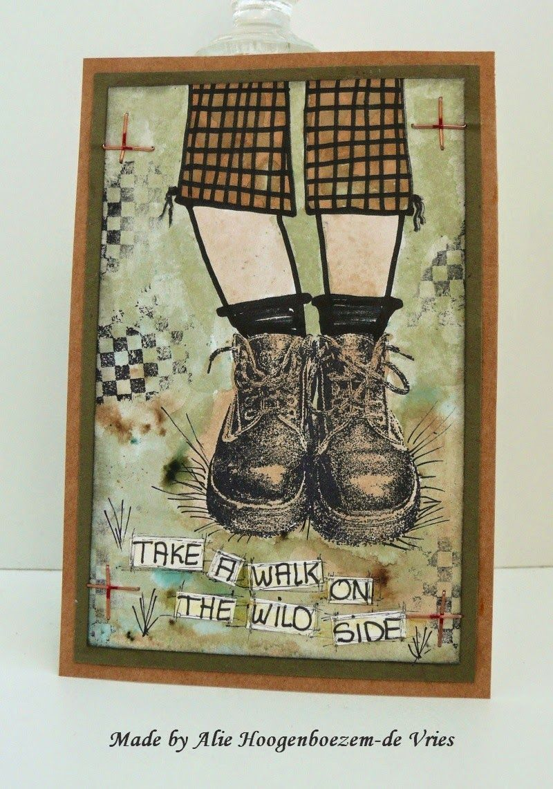 Alie Hoogenboezem-de Vries: Take a walk on the wild side....two cards