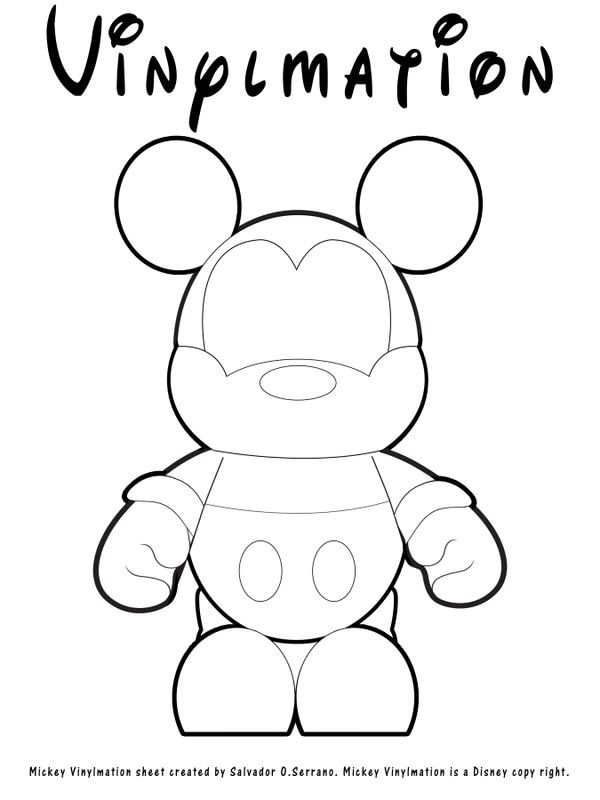 Vinylmation Coloring Page Great For My Own White Designable Vinyl