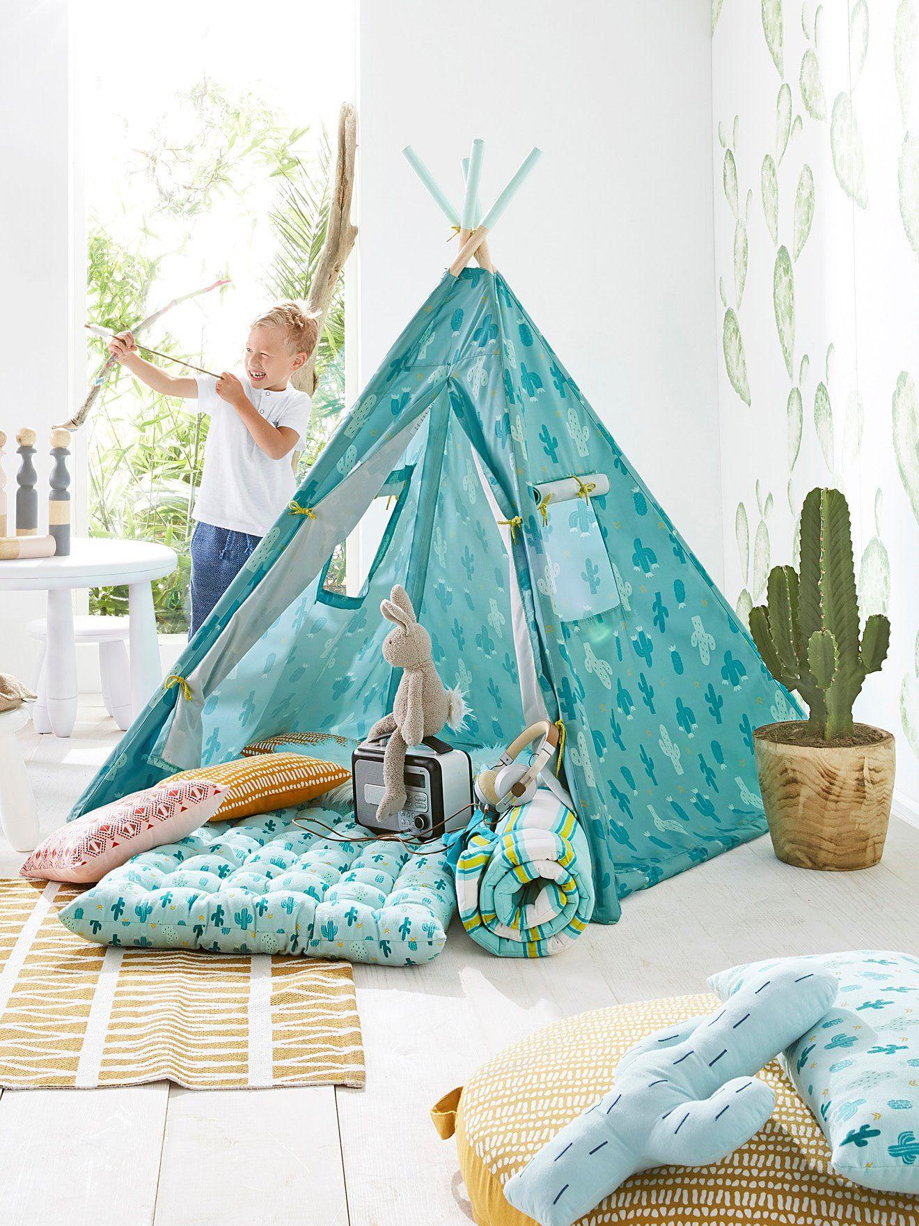 Colchón Para Suelo Verde Claro Estampado Vertbaudet Colchón En El Suelo Cojines De Suelo Colchonetas Para Dormir