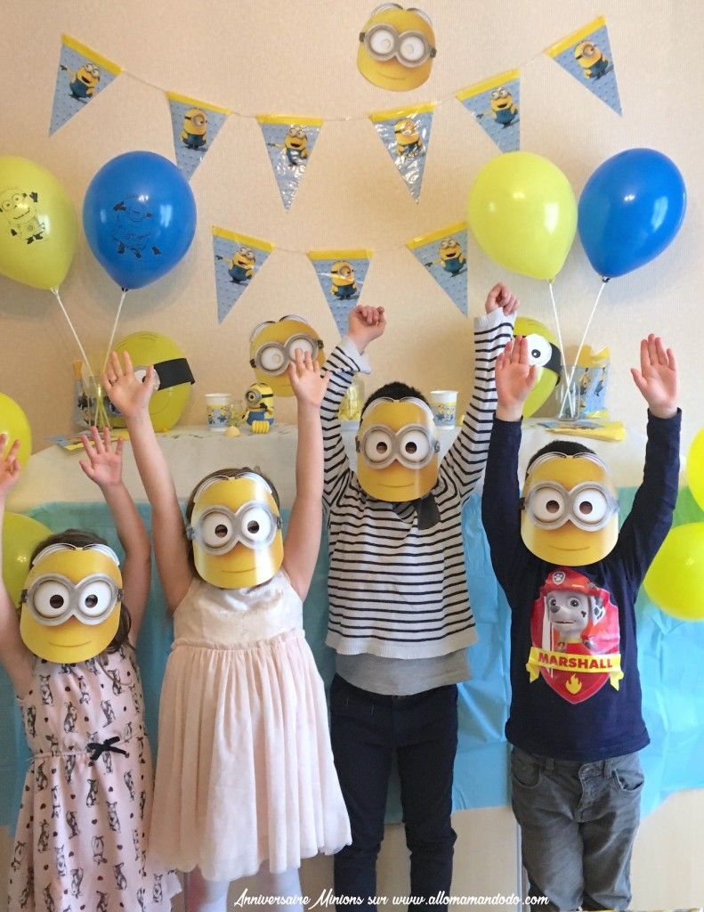 Adorable Minions Birthday Party Theme