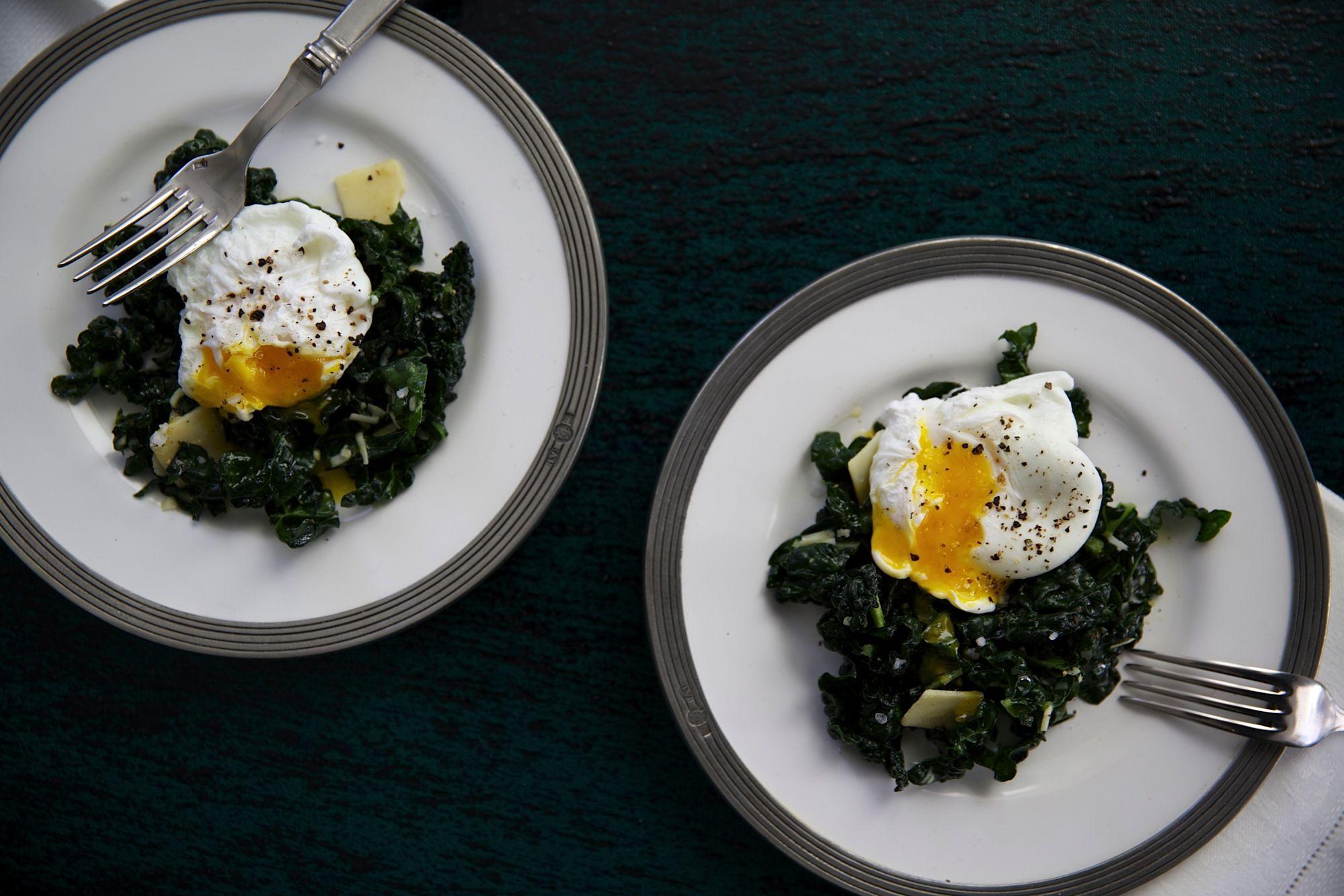 Kale Caesar Poched Breakfast