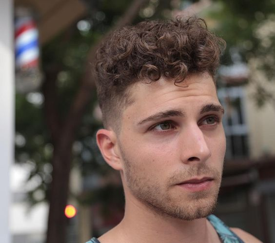 Curly Hairstyles For Men Custom Cool Men Hairstyle For Curly Hair  Beard Goals  Pinterest  Men