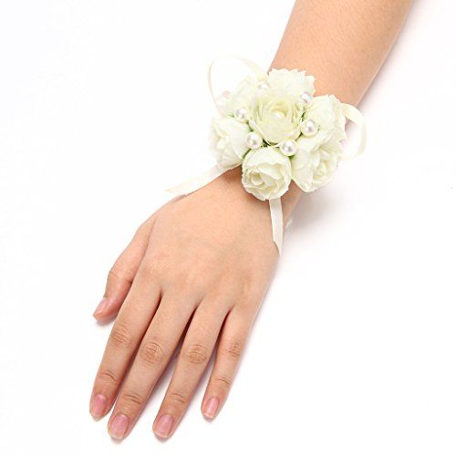 FAYBOX Girl Bridesmaid Wedding Wrist Corsage Party Prom Hand Flower Decor Pack of 4 Ivory FAYBOX http://www.amazon.com/dp/B014A8SQ3K/ref=cm_sw_r_pi_dp_lGQ3vb0FAWH3F
