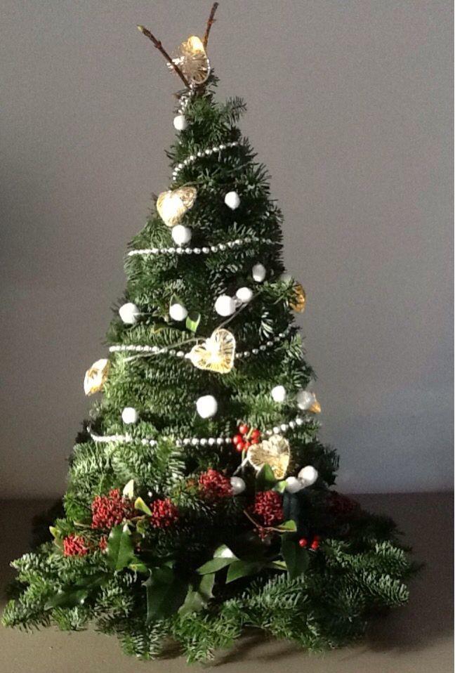 Mini Kerstboom 65 Cm Hoog En 55 Cm Breed Opgebouwd Met Takken