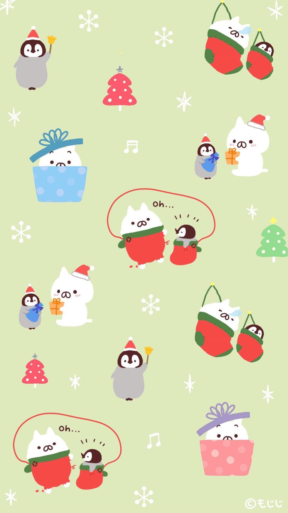 Onigiriのnekoとnoriのpenguin かわいいペンギン スタンプ かわいい キュートなアート
