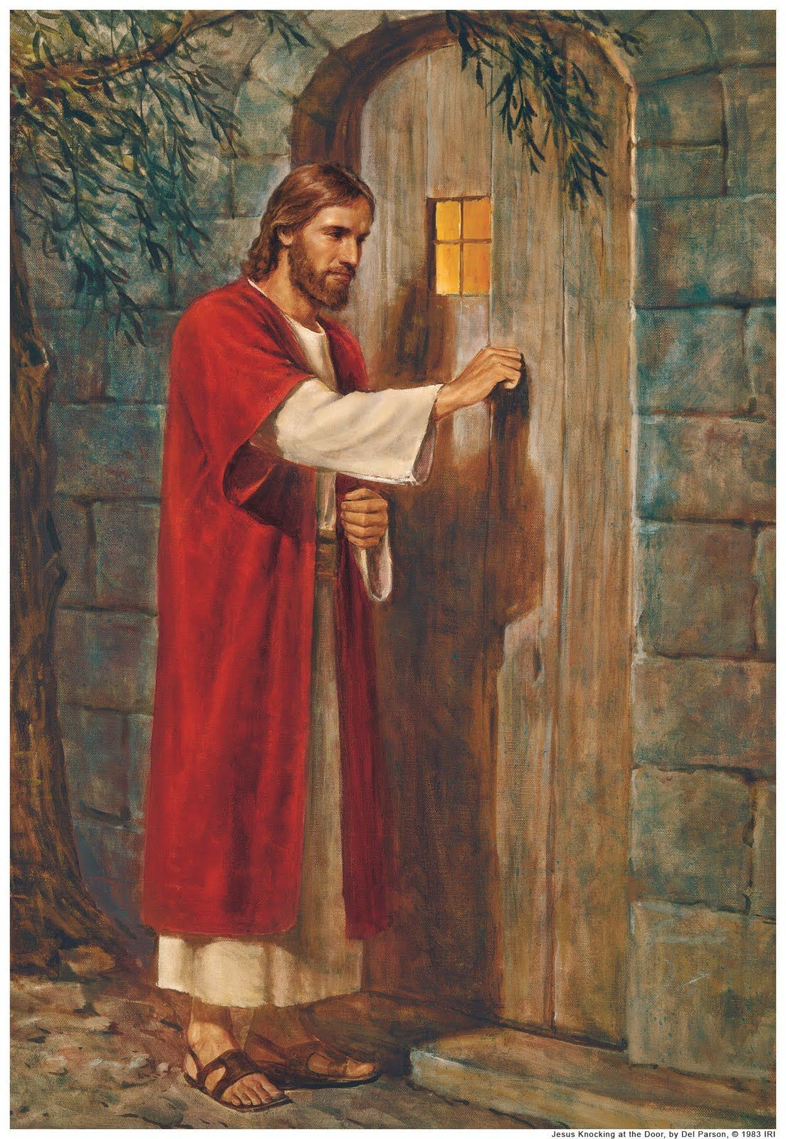 Jesus Knocking At The Door Of Our Hearts...Painting By William Holman Hunt