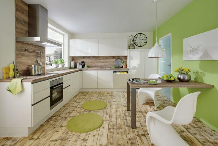 Grün und weiß kombinieren schöne küche