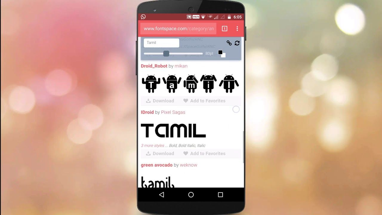 Tamil font for mobile phone free download.