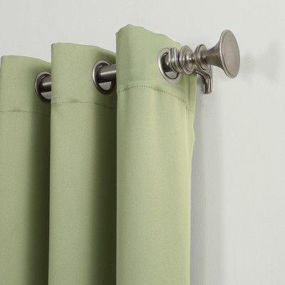 40 X 95 Kenneth Blackout Energy Efficient Grommet Curtain Panel Green Sun Zero Grommet Curtains Panel Curtains Thermal Drapes