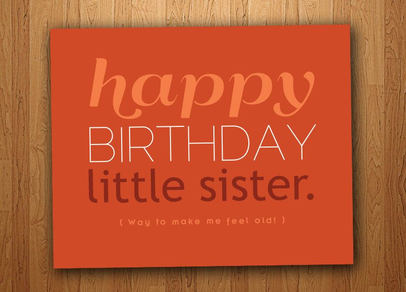 Little Sister Funny Birthday Card Printable 3
