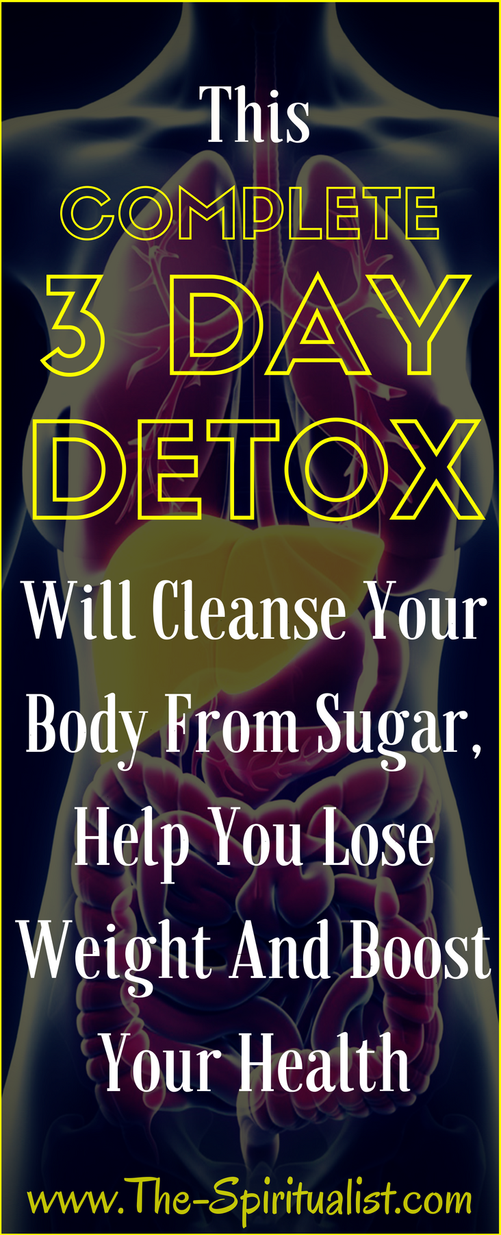 This 3-Day DETOX Plan Will Cleanse Your Body from Sugar, Help You Lose Weight and Boost Your Metabolism! #Quickweightlossdiet #sugardetoxplan