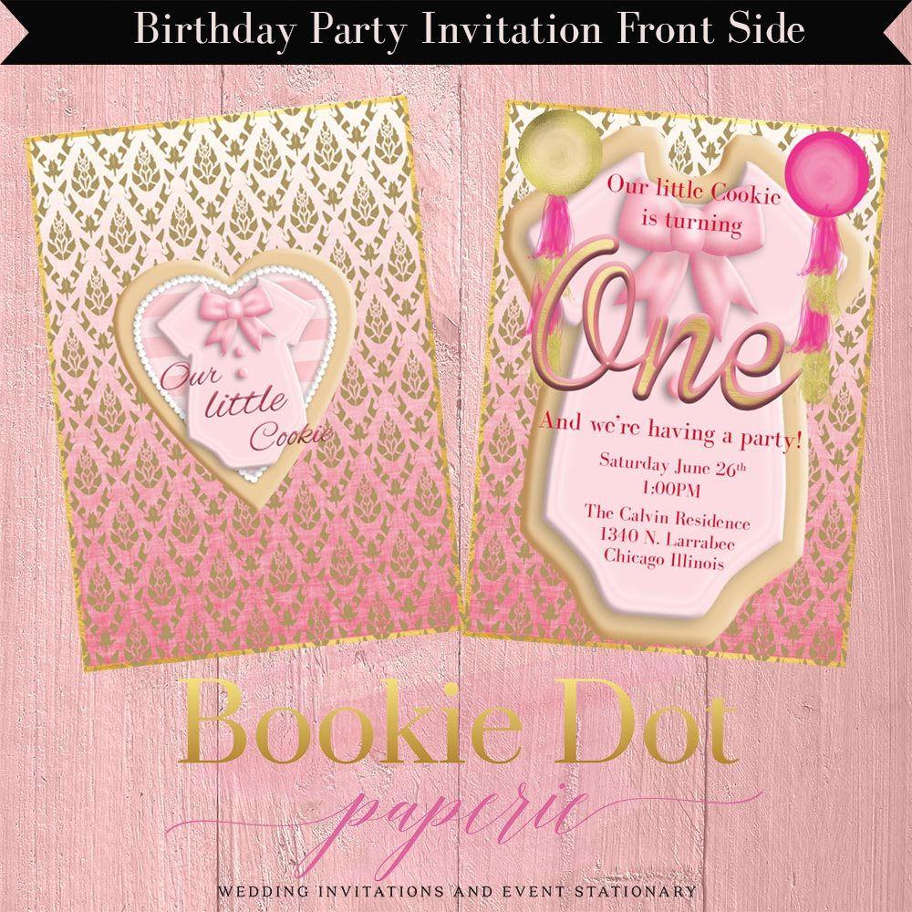 Girl Birthday Party Invitation/Cookie Birthday Party Invitation ...