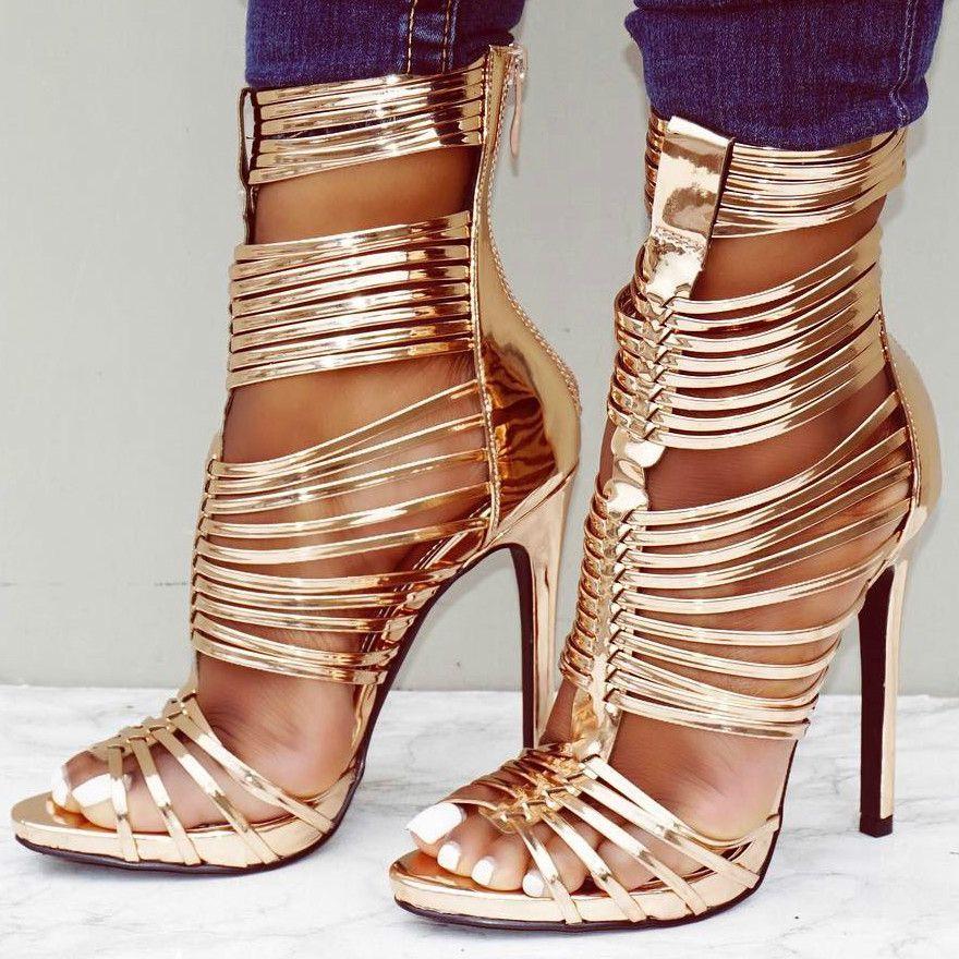 HeelsWedgesamp; L♡ve HeelsI BootsZapatosZapatos Rose Gold c354ARjLq