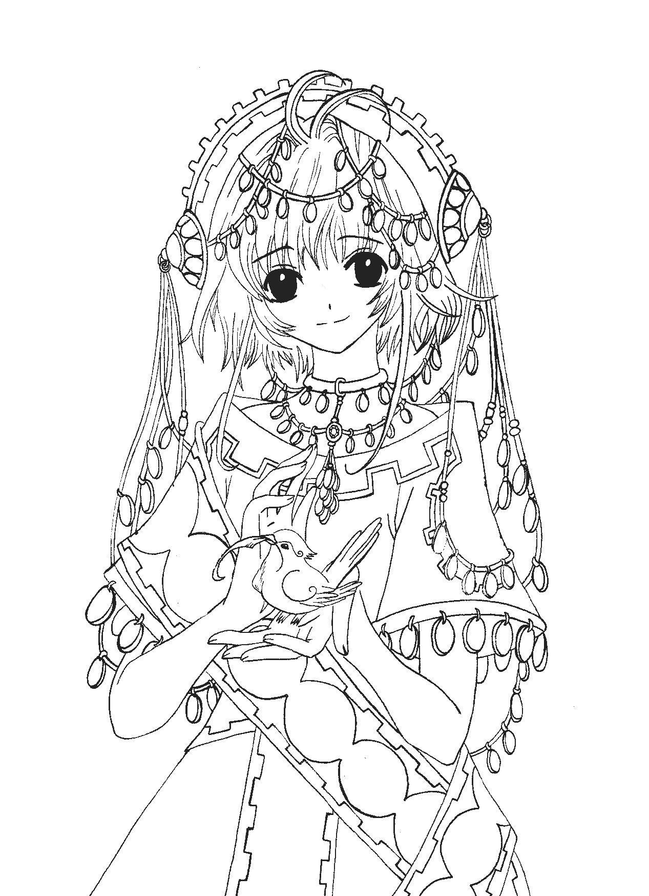 Sakura Tsubasa Chronicles Mermaid Coloring Pages Coloring Pages Tsubasa Chronicles [ 1747 x 1267 Pixel ]