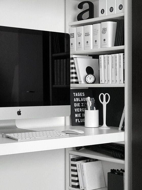 Minimal workspace interior design #interiorgoals #minimalinterior #interiordecor #workspace #interiordesign / Instagram: @fromluxewithlove