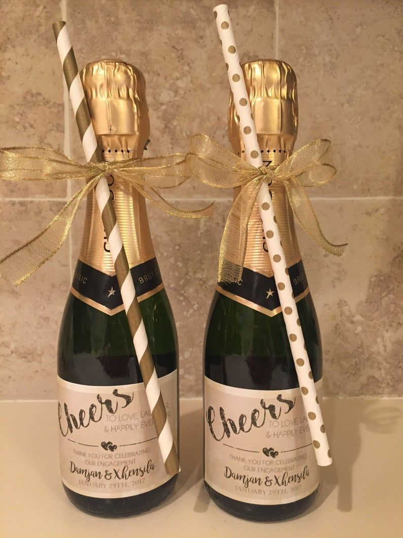 gastgeschenke hochzeit champagner