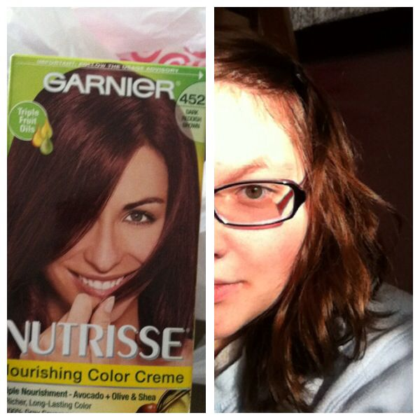 Garnier Nutrisse Nourishing Color Creme Number 452 Chocolate Cherry Dark Reddish Brown Love My New Hair