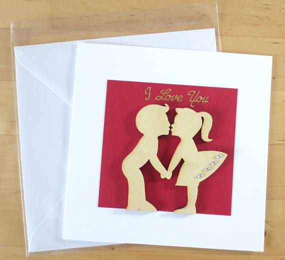 I Love You Card Anniversary Card Valentines Card Romantic