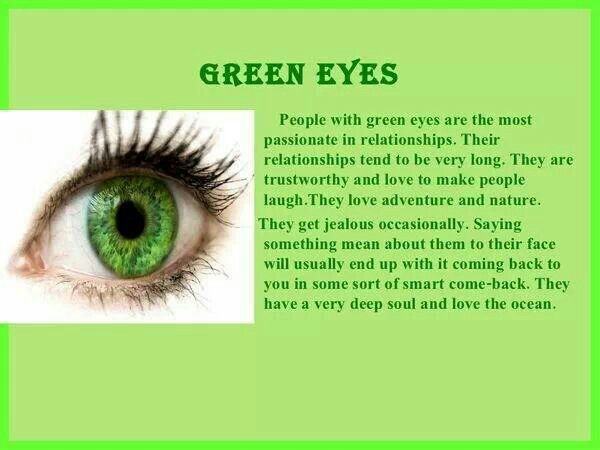 Personality Traits Based On Eye Color Green Eyes Self