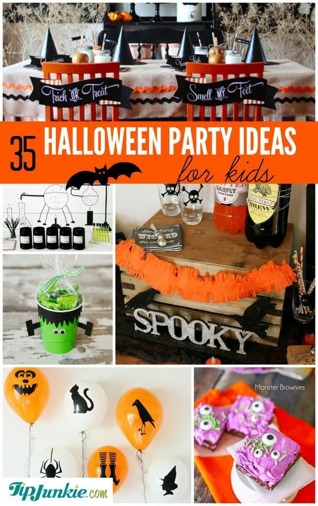 35 Halloween Party Ideas for Kids Awesome Party Ideas Pinterest - kids halloween party ideas
