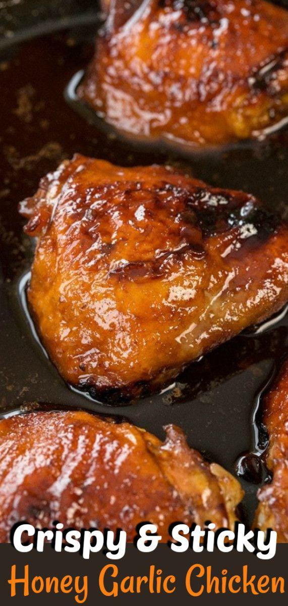 Mom's Easy Honey Garlic Chicken #garlicchicken