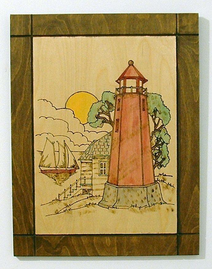 Lighthouse, Nautical Wood Wall Art | Wood wall art, Wood walls and ...