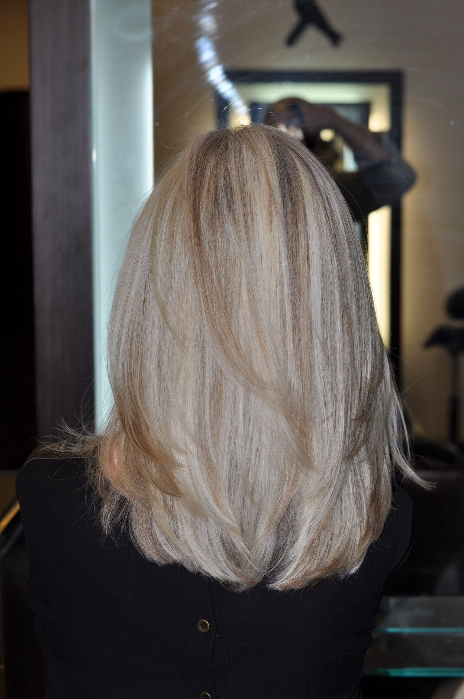 Beautiful blonde patternmatching highlights using the clientus