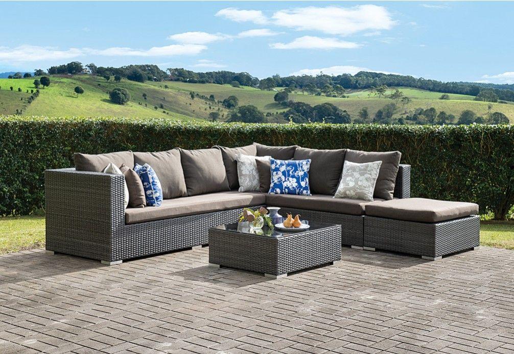 Barbosa 4pce Outdoor Modular Lounge Setting Super Amart Outdoor