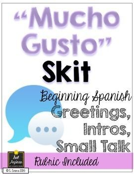 Beginning spanish write your own skit mucho gusto spanish mucho gusto skit beginning spanish write your own skit greetings introductions by m4hsunfo