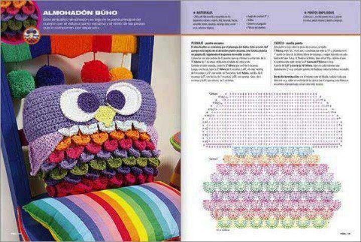 Resultado de imagen para buho tejido a crochet patrones   ACCESORIOS ...