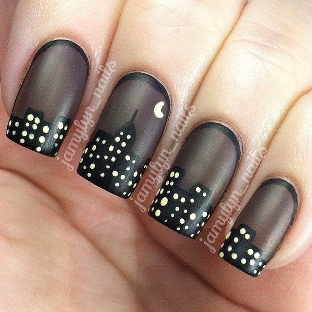 I\'ve been seeing all of these gorgeous sheer black manis so I ...