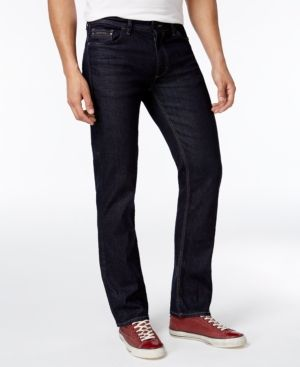 26c50e9e4d000e Calvin Klein Jeans Men's Slim-Straight Fit Stretch Streak Rinse Jeans -  Black 33x32