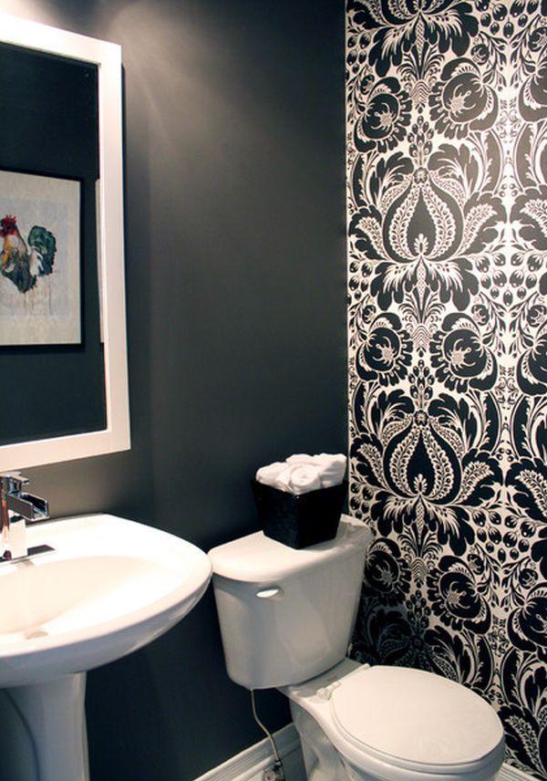 Wallpaper Accent Wall Bathroom, Wallpaper For Bathroom Walls