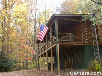 Secluded Mountain Log Cabin On 10 Acres For Sale In Mountains Of