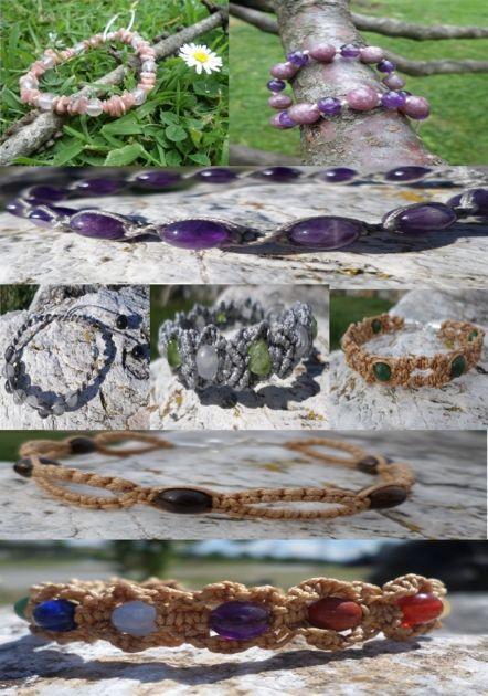 Bracelet BIENFAIT des pierres à COMPOSER SOI-MEME par LILI-IM - Nos boutiques de créateurs/LILI-M lithothérapie - Valenteens Créateurs