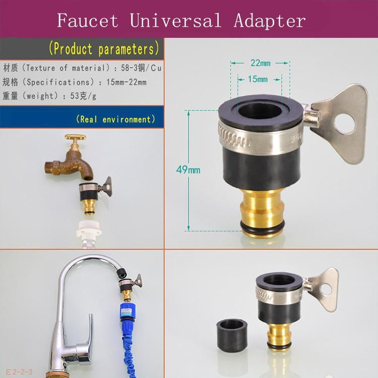 15 22mm Garden Water Hose Tap Connectors Universal Adapter Faucet For Shower Irrigation Us 4 40 Faucet Water Hose Universal Adapter