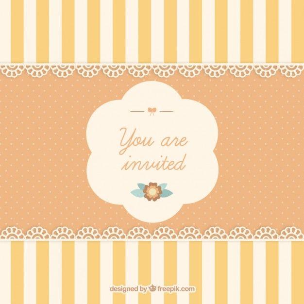 Cute invitation card - Freepik-Invitations-pin-51 Decorative - invitation designs free download