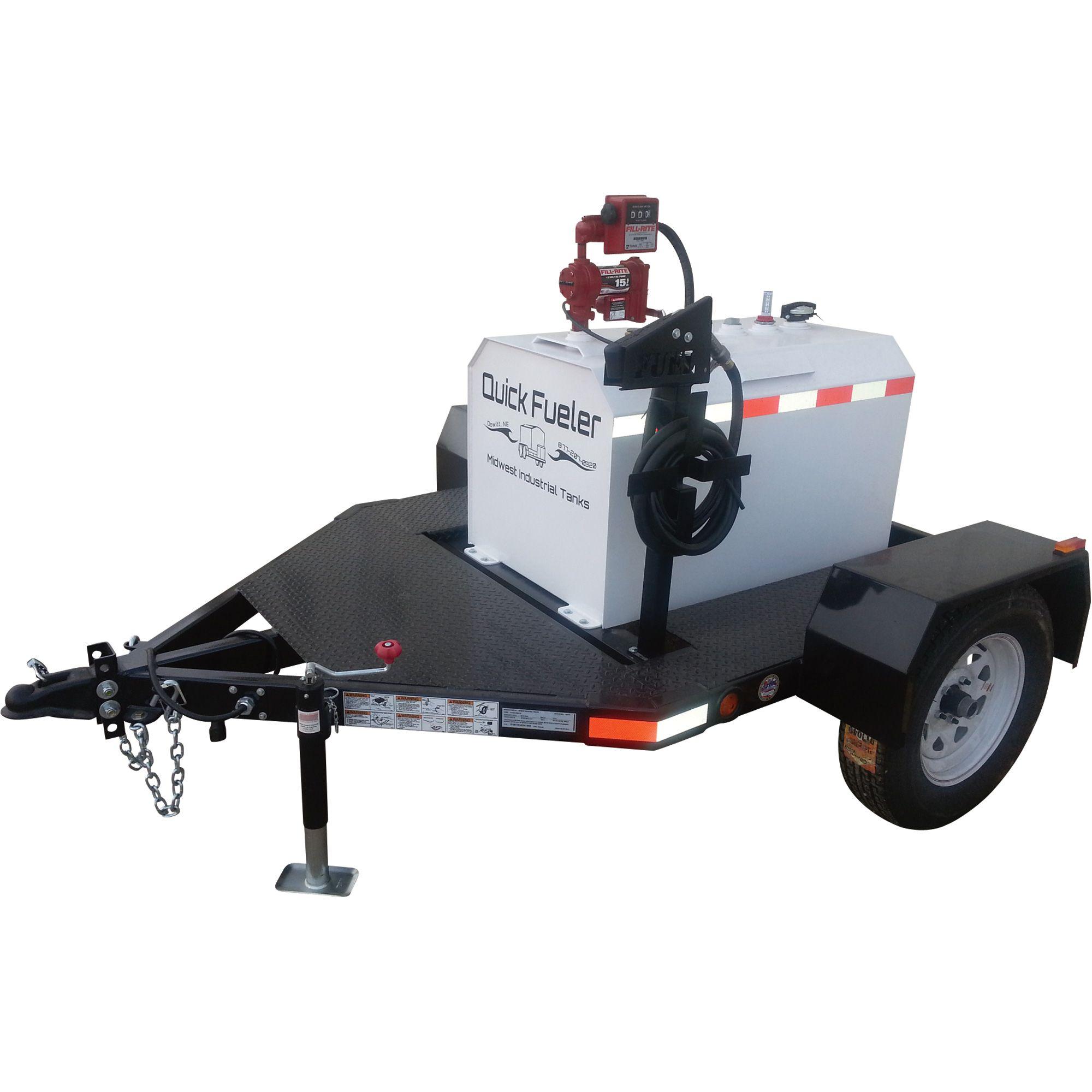 Midwest Industrial Tanks Quick Fueler Fuel Trailer — 115
