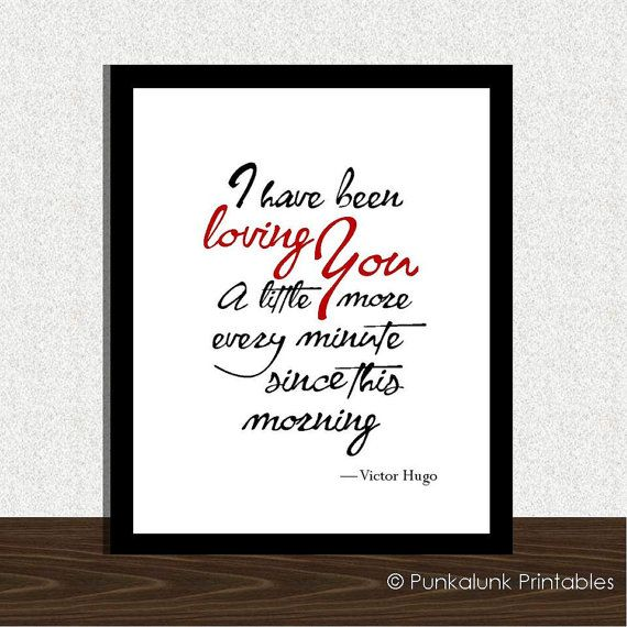 Les Miserables quote  Victor Hugo quote  by PunkalunkPrintables