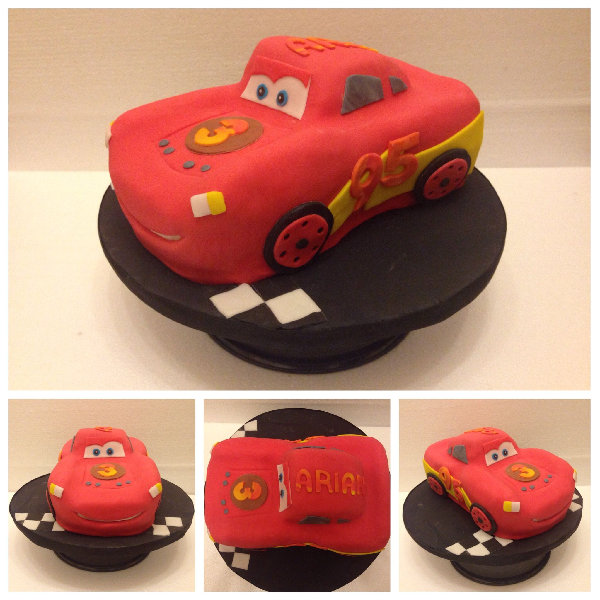 cars torte 3d rennauto motivtorte lightning mcqueen disney pixar fondant pinterest. Black Bedroom Furniture Sets. Home Design Ideas