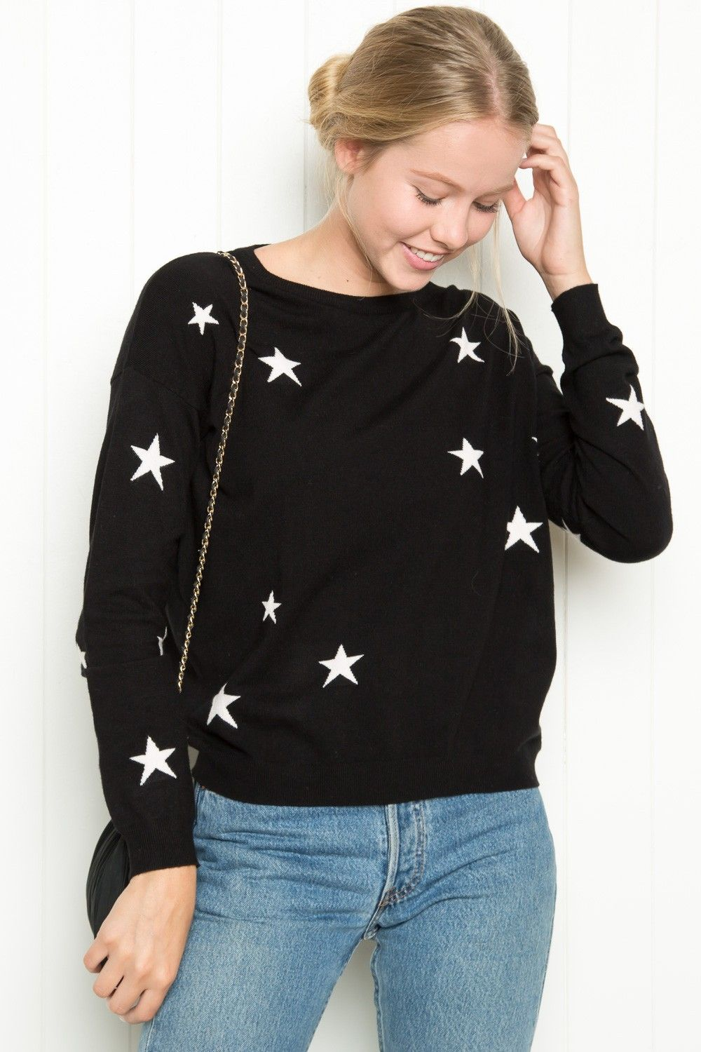 Brandy Melville Alanis Star Sweater Just In New Arrivals