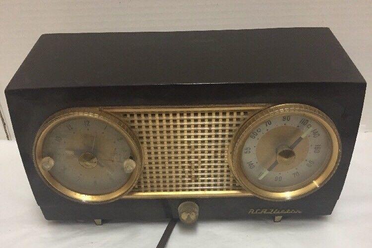 RCA Victor Tube Radio Model 4 C 541 Telechron Clock Repair