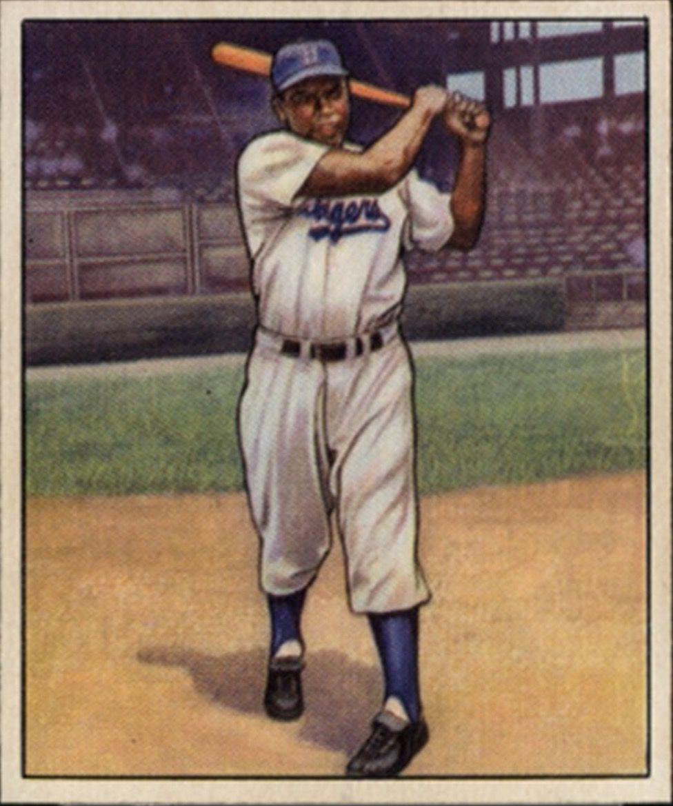 1950 Bowman Jackie Robinson Brooklyn Dodgers Baseball Cards 1948