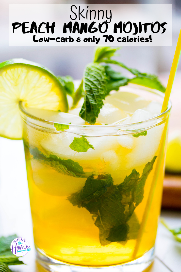 Skinny Peach Mango Mojitos Are Refreshing Summer Drinks