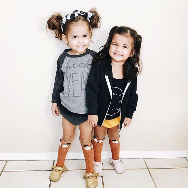 It always puts a smile on my face when our tops are worn unisex. I design everything to be styled for both boys & girls and when you guys take that seriously it just makes my day! These little ladies are just #everything. @thegarciadiaries