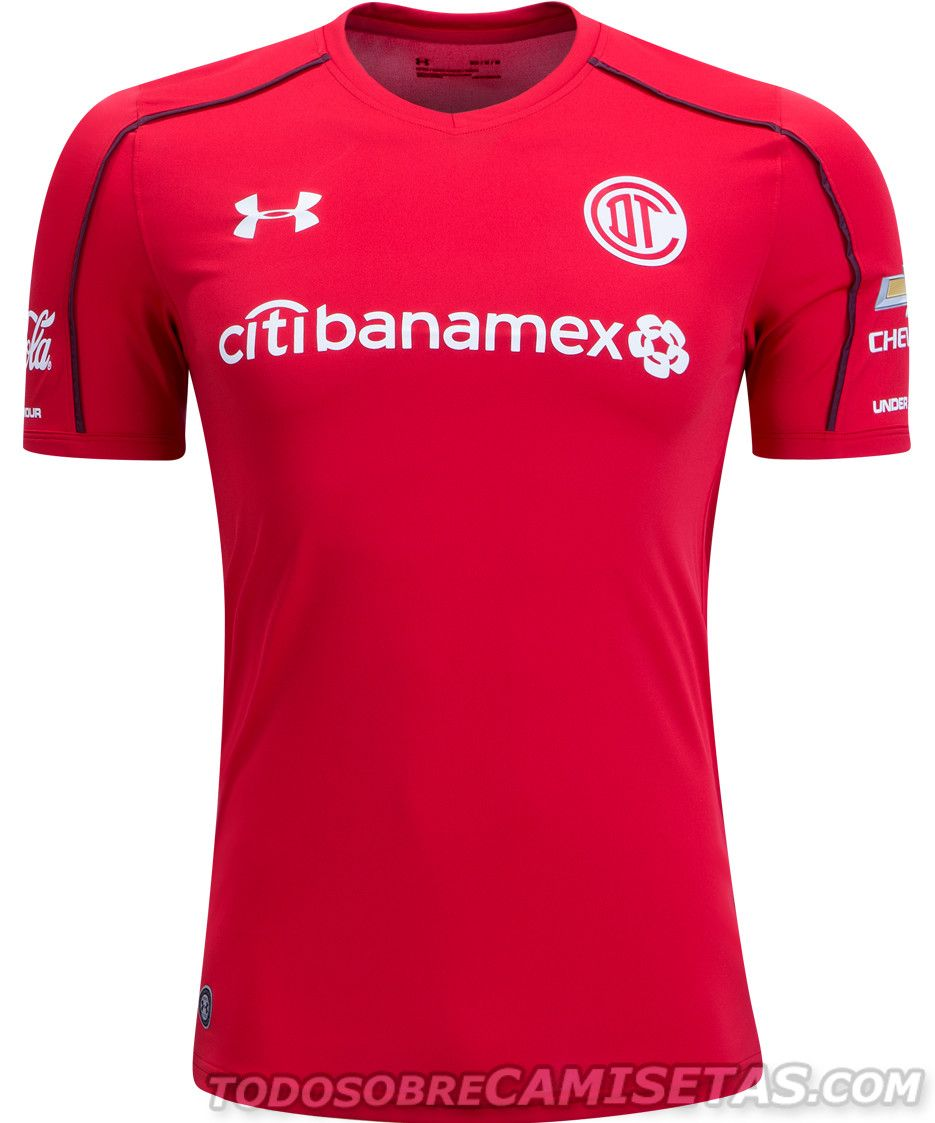 Camisetas Under Armour de Toluca FC 2017-18  91345d080bcf1